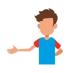 Young boy teen male faceless image vector