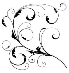 Abstract Floral Branch vector image vector image