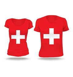 Flag shirt design of Switzerland vector image
