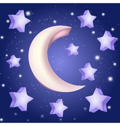 moon and stars vector image vector image