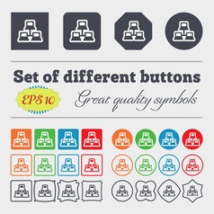 local area network icon sign Big set of colorful vector image