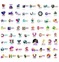 Mega set of geometrical abstract logos vector image