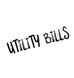 Utility bills rubber stamp vector