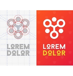 Geometric business icon with scheme vector image vector image
