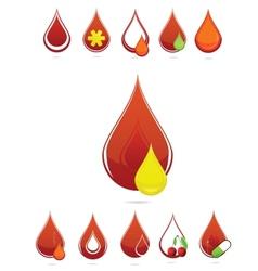 medic blood drops set vector image