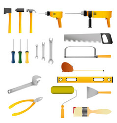 repair and construction tools set vector image vector image