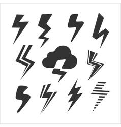 Set of Symbols Lightning vector image vector image