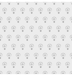 Tile light bulbs grey pattern or wallpaper vector image vector image
