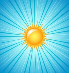 big shining summer sun vector image vector image