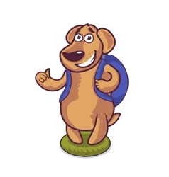 Cute character cartoon dog vector