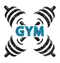 dumbbells for gym vector image vector image
