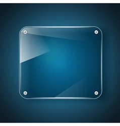 glass background blue vector image vector image