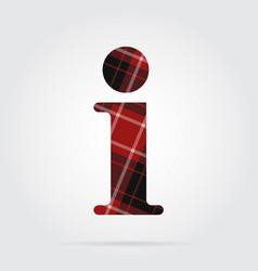 Red black tartan icon - information symbol vector