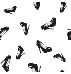 seamless pattern with women s shoes vector image