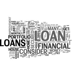 what loan to get text word cloud concept vector image
