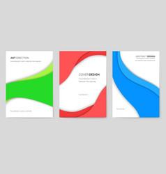 Abstract brochure cards set art template vector