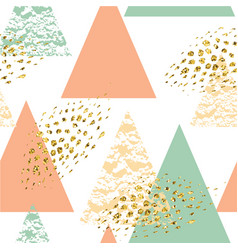 Abstract hand drawn geometric seamless pattern vector