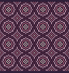 abstract pattern with seamless knitted texture vector image