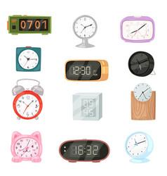 alarm clock modern clockface clocked vector image