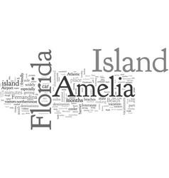 Amelia island florida vector