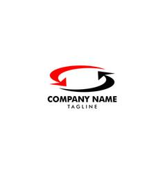 arrow exchange logo icon template vector image