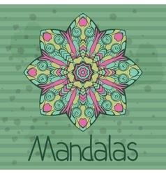 Banner with kaleidoscope mandala vector