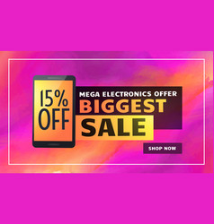 Biggest electronics sale banner poster flyer vector