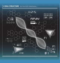 Black and white background dna structure vector