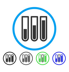blood analysis rounded icon vector image