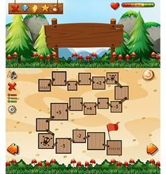 Boardgame template vector