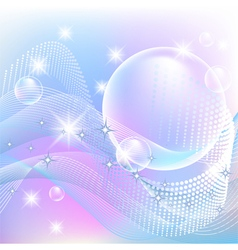 Bubbles and stars vector image