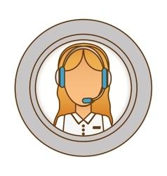 Call center telemarketing tech service worker vector