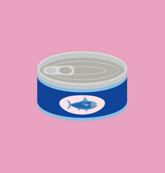 Canned tuna in flat style vector