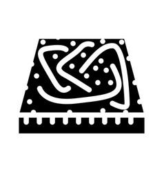 Carpet floor glyph icon vector