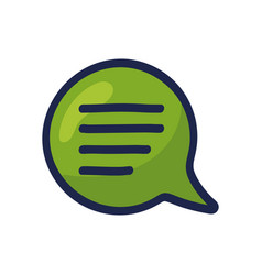 Cartoon doodle speech bubble icon chat sign in vector
