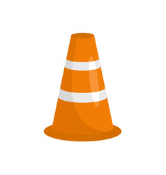 caution cone icon flat style vector image