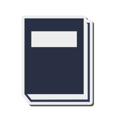 Closed book icon vector