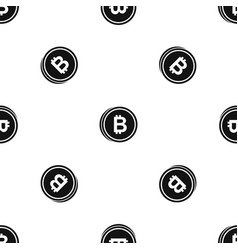 coin bat pattern seamless black vector image