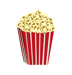 Color background with butter popcorn container vector