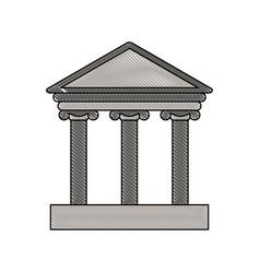 Color blurred stripe parthenon icon vector
