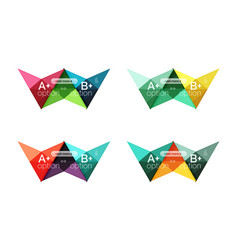 Colorful option banner arrow templates vector