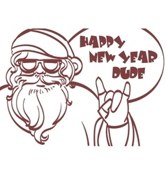 Cool art of Santa Claus Hipster vector image