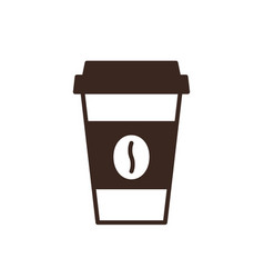 disposable coffee cup isolated linear icon vector image