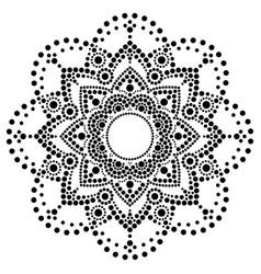 Dot art ethnic mandala - aboriginal design vector