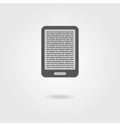 E-book reader icon with shadow vector