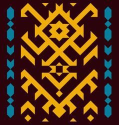 Ethnic traditional american style textile vector