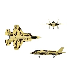 fighter jet war plane in flat style vector image