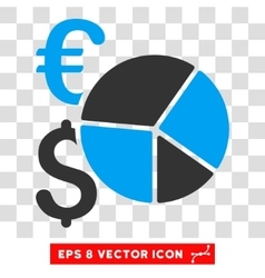 Financial Pie Chart Eps Icon vector