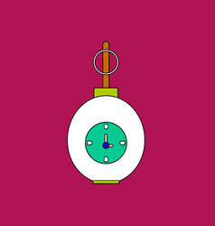 Flat icon design collection military grenade with vector