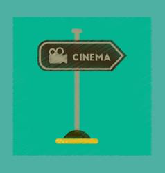 Flat shading style icon cinema sign vector